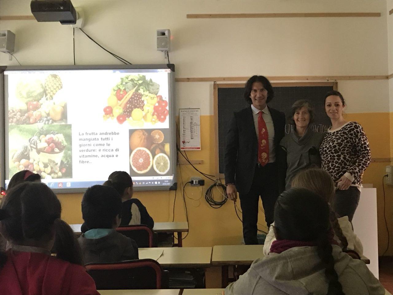 Intervento formativo di Educazione Alimentare in una scuola elementare di Milano