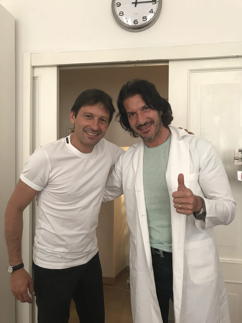 Con Leonardo Araújo, ex calciatore del Milan
